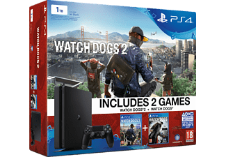 SONY PS4 1 TB + Watch Dogs + Watch Dogs 2
