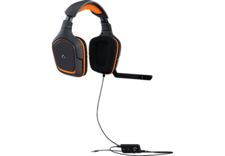 LOGITECH G231 Gaming-Headset Grau/Orange