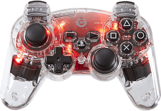 BIGBEN Wireless PS3 Controller Clear Red