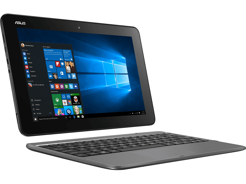 "ASUS Transformer Book T101HA-GR030T szürke 2in1 eszköz (10,1""/Atom/4GB/128GB eMMC/Windows 10)"