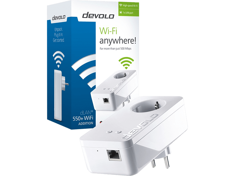 DEVOLO dLAN 550+ WiFi Powerline - (9832) laptop  tablet  computing  δικτυακά access point  router  range extender  switch