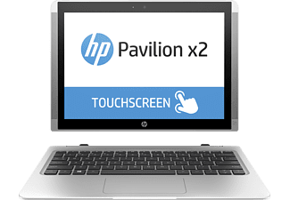 HP Pavilion x2 12-b101ng, Convertible mit 12 Zoll, 256 GB Speicher, 4 GB RAM, Core™ m3 Prozessor, Windows® 10 Home (64 Bit), Silber
