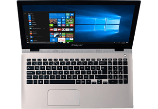 CASPER Nirvana F600.7200-8T45T Intel Core i5-7200U 2.50 GHz 8GB 1TB GeFroce 940MX 2 GB Win10 Gold Notebook