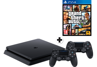 SONY PlayStation 4 1 TB incl. 2x Dualshock 4 + GTA V