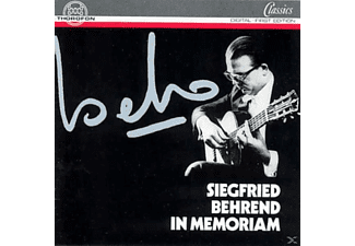 Siegfried Behrend - Siegfried Behrend In Memoriam - (CD)