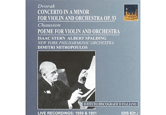 New York Philharmonic Orchestra - Mitropoulos Conducts Dvorak And Chausson - (CD)