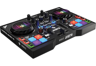 HERCULES DJ Control Instinct P8 Party Pack (8 Performance-Pads, integr. Soundkarte, 8 LED-Armbänder) 2-Deck, DJ Controller