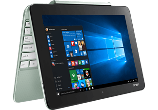 ASUS T101HA-GR008T, Convertible mit 10.1 Zoll, 64 GB Speicher, 2 GB RAM, Atom™ x5 Prozessor, Windows® 10 Home  (64 Bit), Mint Green