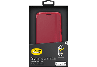 OTTERBOX 77-53855 Symmetry, Bookcover, Samsung, Galaxy S7, Synthetischer Kautschuk/Polycarbonat, Rot