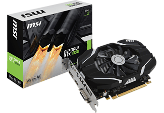 MSI GeForce GTX 1050 2G OC 2 GB, GTX 1050, NVIDIA, Grafikkarte