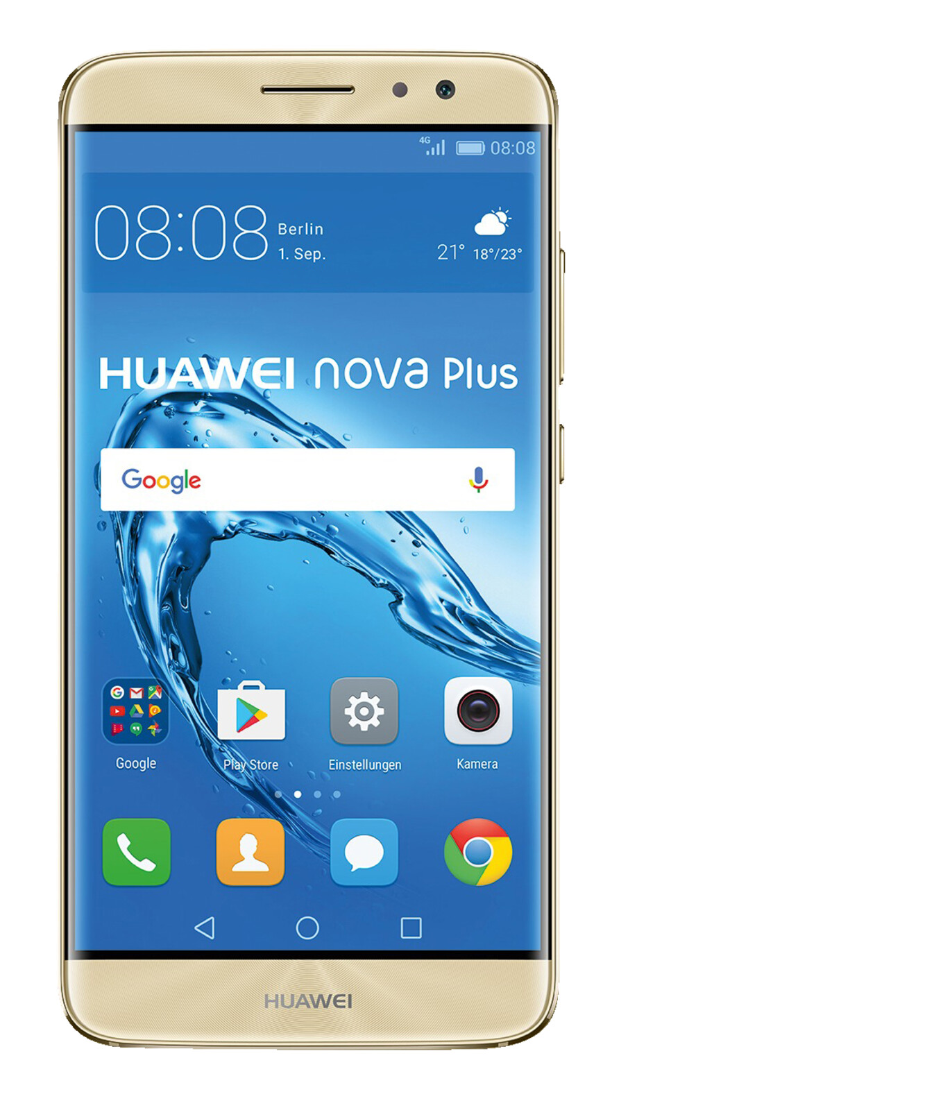 Huawei nova plus smartphone 32 gb 5 5 zoll gold lte for Minimalistisches smartphone