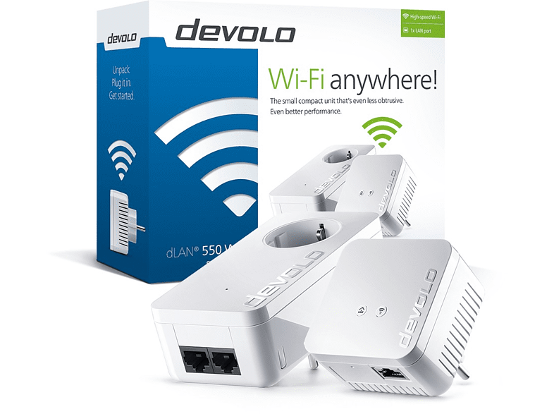DEVOLO dLAN® 550 Wifi Starter Kit Powerline - (9638) computing   tablets   offline networking powerline laptop  tablet  computing  δι
