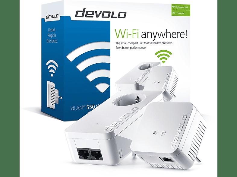 DEVOLO dLAN® 550 Wifi Starter Kit Powerline - (9638) computing   tablets   offline networking powerline laptop  tablet  computing  δι
