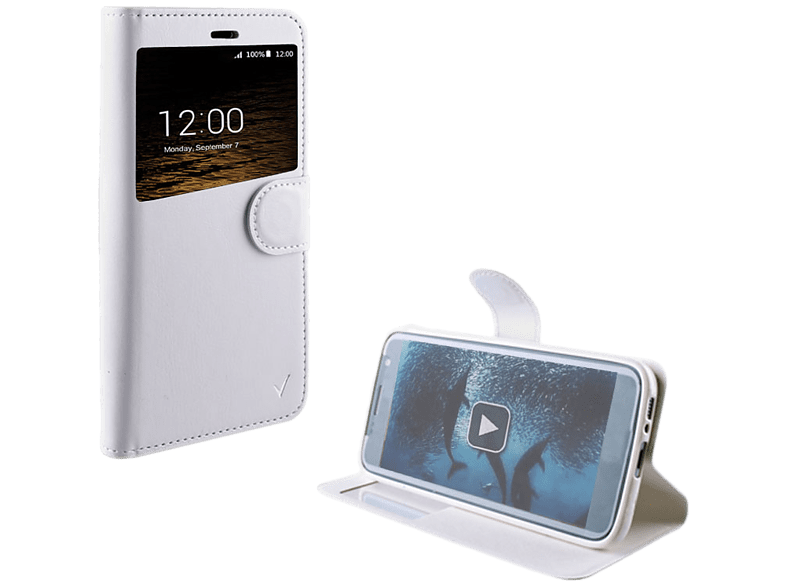 VOLTE-TEL Θήκη Sony Xperia E5 F3311 Leather-TPU View Book Stand White - (5205308 τηλεφωνία   πλοήγηση   offline αξεσουάρ κινητής smartphones   smartliving αξεσου