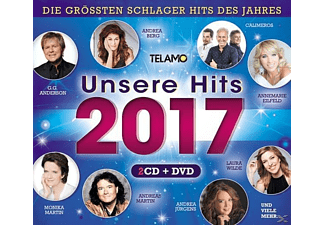 VARIOUS - Unsere Hits 2017 - (CD + DVD Video)