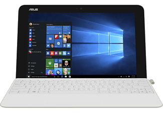 ASUS T102HA-GR015T, Convertible mit 10.1 Zoll, 64 GB Speicher, 4 GB RAM, Atom™ Prozessor, Windows® 10 Home (64 Bit), Pearl White/Gold Dock