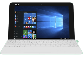 ASUS T102HA-GR016T, Convertible mit 10.1 Zoll Display, Atom™ x5 Prozessor, 4 GB RAM, 64 GB eMMC, HD-Grafik 400, Pearl White/Green Dock