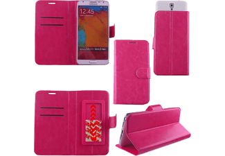"VOLTE-TEL Θήκη Universal 5.1""-5.7"" Leather  Book  Stand 3M Slide Pink - (5205308131714)"