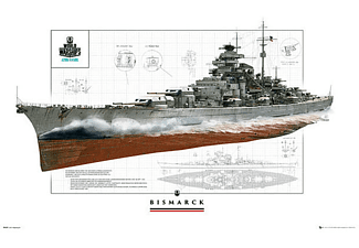 World or Warships Poster Schlachtschiff Bismarck