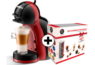 KRUPS Nescafe Mini Black/red + Gift Box - (KP120H)