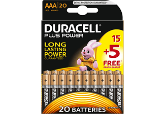 DURACELL Plus Power AAA 15+5-pack