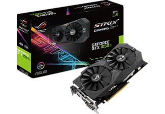 ASUS GeForce® GTX 1050Ti ROG Strix 4GB Gaming (90YV0A31-M0NA00)( NVIDIA, Dual-Slot Grafikkarte) ASUS GPU Tweak II & Driver, Aura (Graphics Card) Utility