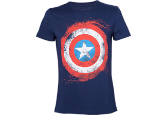 Heren T-shirt - Captain America Shield, maat S | T-Shirt