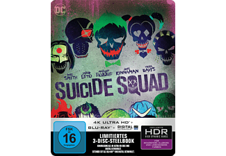 Suicide Squad (Kinofassung & Extended Cut) (3 Discs) SteelBook™ RS [4K Ultra HD Blu-ray + Blu-ray]