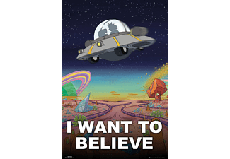 Rick And Morty Poster I Want To Believe