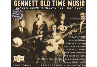 VARIOUS - Gennett Old Time Music - Classic Country Recordings 1927-1934 - (CD)
