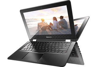 LENOVO Yoga 300, Convertible mit 11.6 Zoll, 32 GB Speicher, 2 GB RAM, Celeron® Prozessor, Windows 10, Snow White