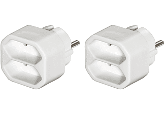 HAMA 2-Way Multi-Plug, white, 2 pieces - (00047631)
