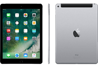 APPLE iPad Air 2 Wi-Fi + Cellular, Tablet mit 9.7 Zoll, 128 GB Speicher, LTE, iOS 9, Space Grau