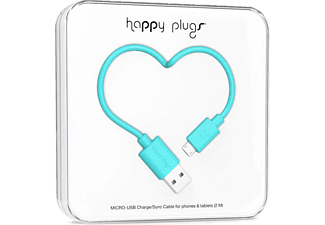 HAPPY PLUGS Micro USB To USB Şarj/Senkronizasyon Kablosu 2 m Turquoi