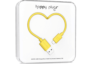 HAPPY PLUGS Micro USB To USB Şarj/Senkronizasyon Kablosu 2 m Yellow