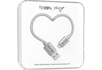 HAPPY PLUGS Micro USB To USB Şarj/Senkronizasyon Kablosu 2 m Space Gray