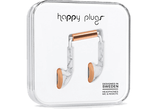 HAPPY PLUGS Earbud White Marble