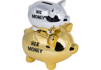 His Money & Her Money Sparschwein Double Piggy