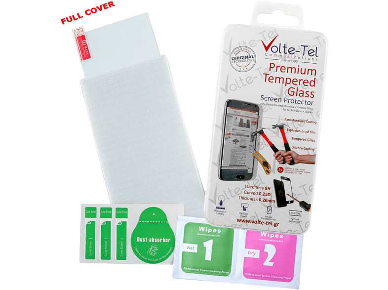 VOLTE-TEL Tempered Glass Lenovo Vibe K6 5.0 9H 0.26mm Full Cover - (520530817666 smartphones   smartliving iphone μεμβράνες προστασίας iphone smartphones   smart
