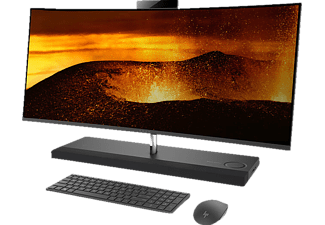 HP ENVY Curved All-in-One (34-b000ng ), All-in-One mit 34 Zoll, 2 TB Speicher, 16 GB RAM, Core™ i7 Prozessor, Ash Silver Sparkle