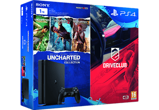 SONY PS4 1 TB + Driveclub + Uncharted Collection Oyun Konsolu