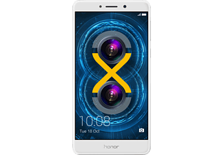 HONOR 6X, Smartphone, 32 GB, 5.5 Zoll, Silber, LTE
