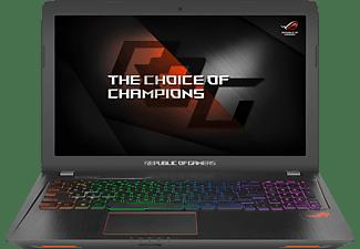 ASUS GL553VD-FY076T, Gaming Notebook mit 15.6 Zoll Display, Core™ i7 Prozessor, 8 GB RAM, 1 TB HDD, 512 GB SSD, GeForce GTX 1050, Schwarz