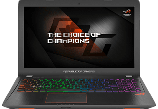 ASUS ROG Strix GL553VD-FY076T, Gaming Notebook mit 15.6 Zoll Display, Core™ i7 Prozessor, 8 GB RAM, 1 TB HDD, 512 GB SSD, GeForce GTX 1050, Schwarz