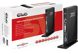 club 3d sensevision dual display docking station csv 3242hd saturn. Black Bedroom Furniture Sets. Home Design Ideas