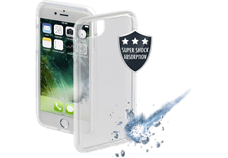 HAMA Protector Backcover Apple iPhone 7, iPhone 8 Thermoplastisches Polyurethan Transparent/Weiß