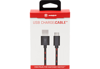 SNAKEBYTE USB Charge:Cable™ - Switch Pro Controller kompatibel, USB-Ladekabel, Schwarz