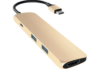 SATECHI PASSTHROUGH, USB Typ-C Hub, Gold