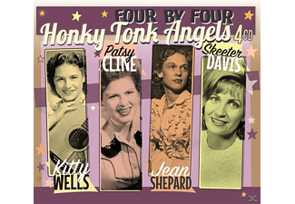 Skeeter Davis, Jean Shepard, Patsy Cline, Kitty Wells - Four By Four - Honky Tonk Angels - (CD)