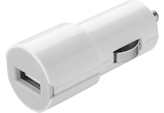 CELLULAR LINE Car Charger 1A White - (CBRUSBSMARTW)